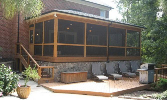 Screened Patio Designs Porch Cover Screen