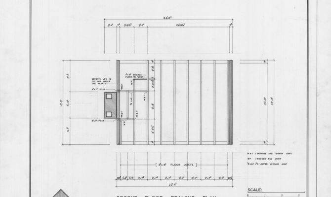 Second Floor Framing Plan Coffey Log House Pineville North Carolina