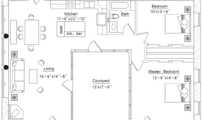 Shaped House Floor Plan Plans Home Design Ideas