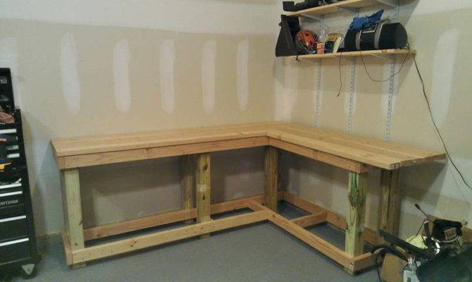 Shelving Make Your Own Garage Workbench Plans