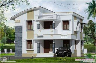 Simple Flat Roof Home Design Feet House Plans