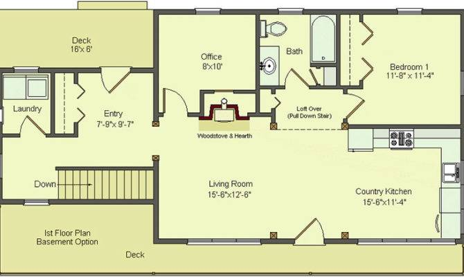 Simple Floor Plans Basement Open House