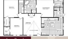 Simple Floor Plans Bedroom House Mobile Home
