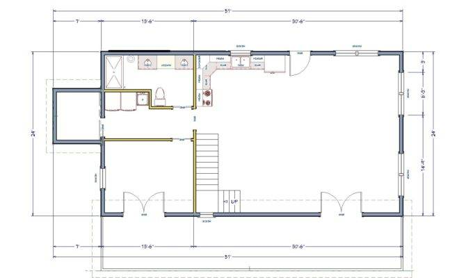 Simple House Floor Plan Making Most Small Space Old