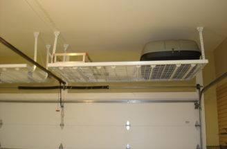 Simple Loft Style Overhead Storage Garage