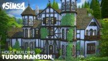 Sims House Building Tudor Mansion Youtube