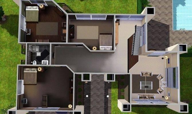 Sims House Designs Modern Villa Floor Plans