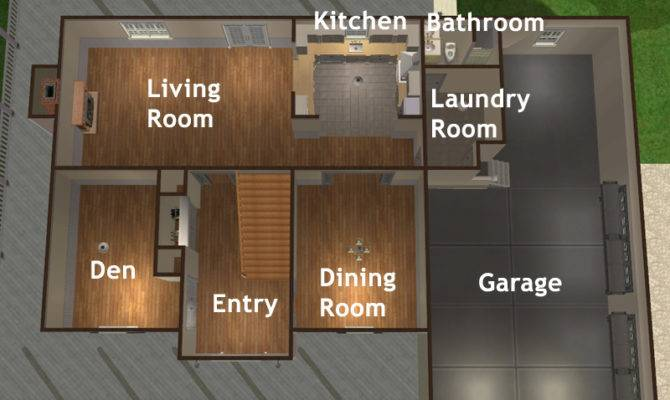 Sims House Layouts Car