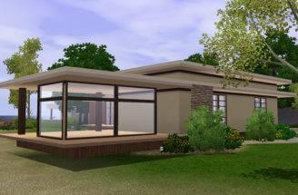 Sims Simple Modern House Blog Lana