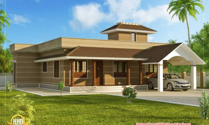 Single Floor Home Design Indian Decor
