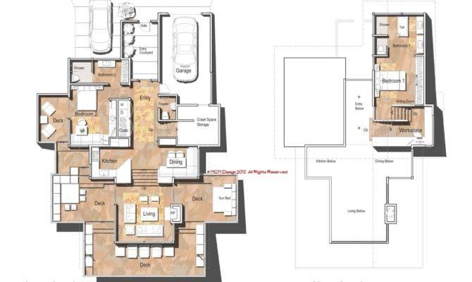 Single Floor Modern House One Story Plans