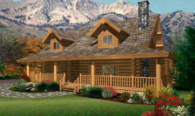 Single Story Log Home Floor Plans Pin Pinterest