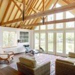 Sitting Room Floor Ceiling Windows Vaulted Views