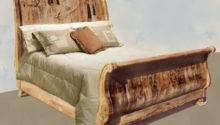 Sleigh Beds Carved Lodge Bed Cabin Style