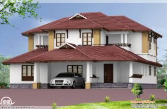 Sloping Roof Home Design Vatakara Kozhikkode Kerala