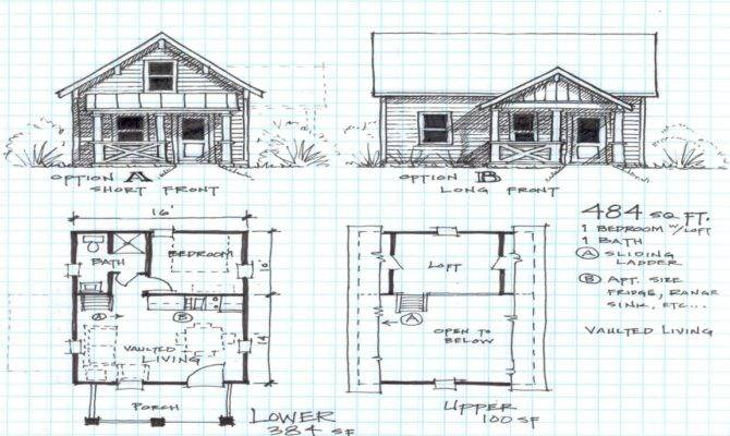 Small Cabin Floor Plans Loft Cottage