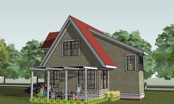 Small Cottage House Plan Shingle Home Design Scandia