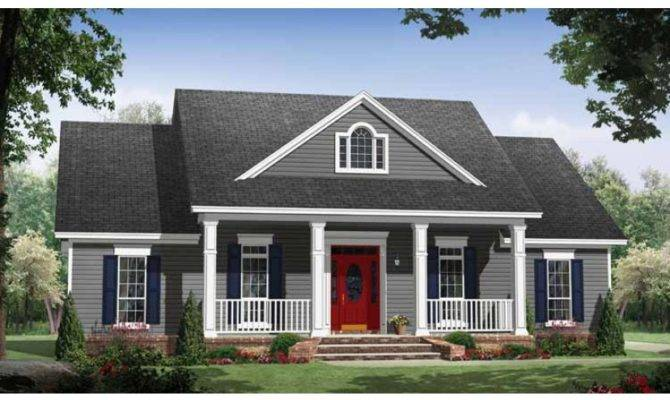 Small Country Home Large Porches Hwbdo