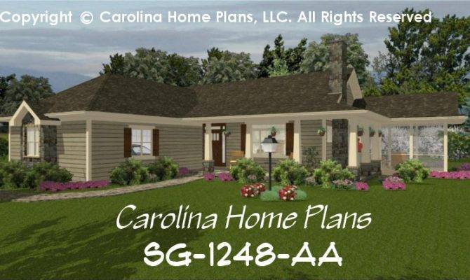 Small Country Ranch House Plan Chp Affordable