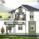 Small Double Floor Home Design Feet Kerala
