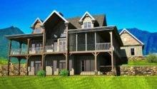Small Lake House Plans Walkout Basement