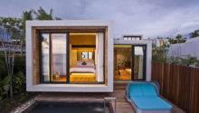 Small Modern House Terrace Pool