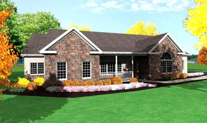 Small Ranch House Plans Porch Suppose