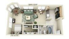 Small Studio Apartment Floor Plans Interior Design Ideas