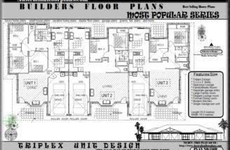 Small Triplex House Plans