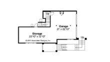 Southwestern Home Plan Santa Rosa Garage Floor