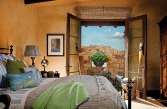 Southwestern Style Bedroom Outdoor Seating Area Hgtv