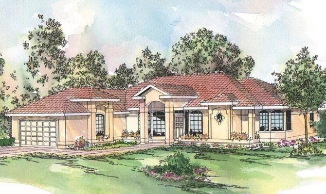 Spanish Style House Plans Richmond Associated Designs
