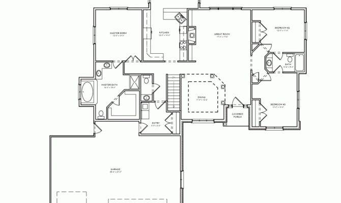 Split Bedroom Plan Epic Small Home
