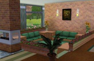Split Level Living Room Sims Houses Pinterest