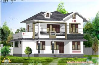 Square Feet Bhk Stylish Kerala House Design