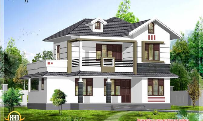 Square Feet Bhk Stylish Kerala House Design
