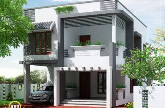 Square Feet Meter Budget Home Design Plan Triangle