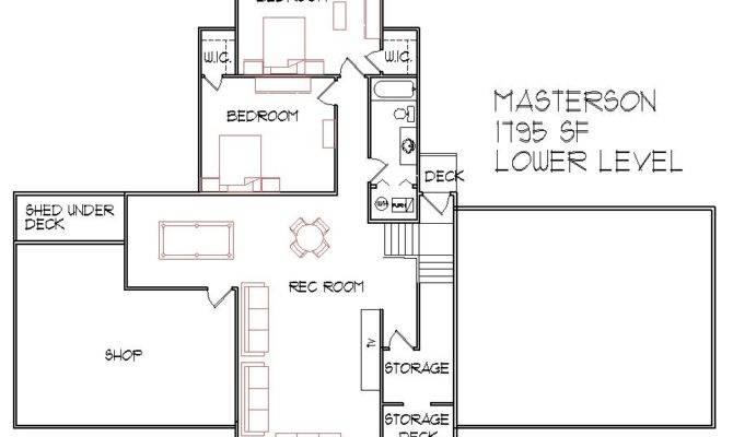 Square Foot Split Level Floor Plan Bedroom Bath Atlanta