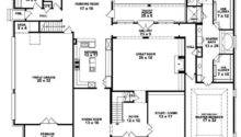 Story Bedroom Bath French Style House Plan Plans Floor