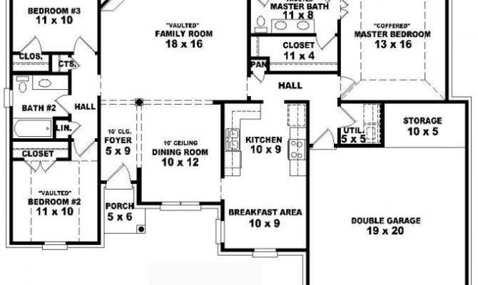 Story Bedroom House Plans Joy Studio Design Best