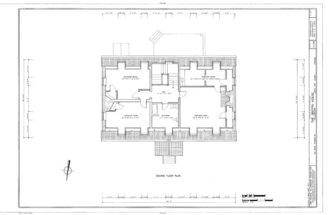 Style Colonial Home Plan Williamsburg Brick Construction