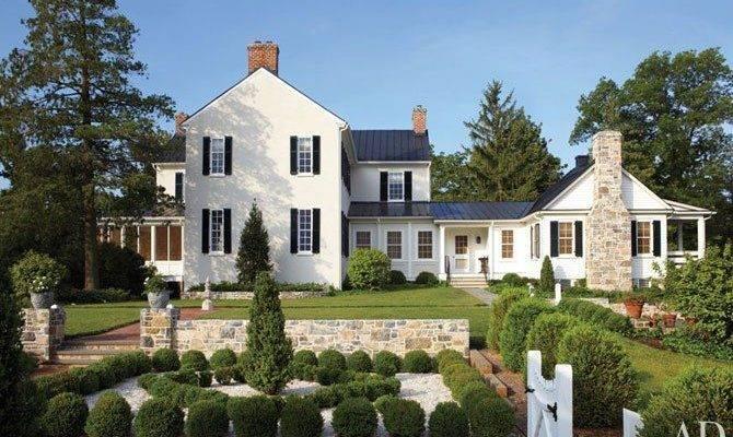 Style Farm House Plans Locke Federal Virginia Farmhouse