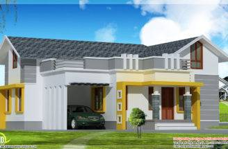 Stylish Single Floor Home Feet Indian House Plans