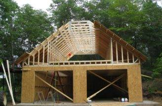 Timber Frame Garage Plans Construction