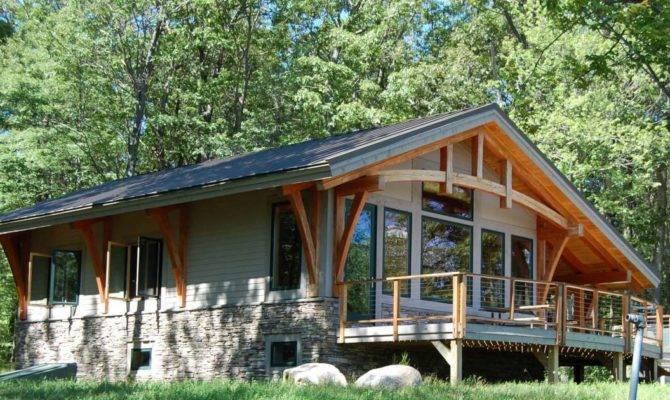 Timber Frame House Plans Cottage Home Design