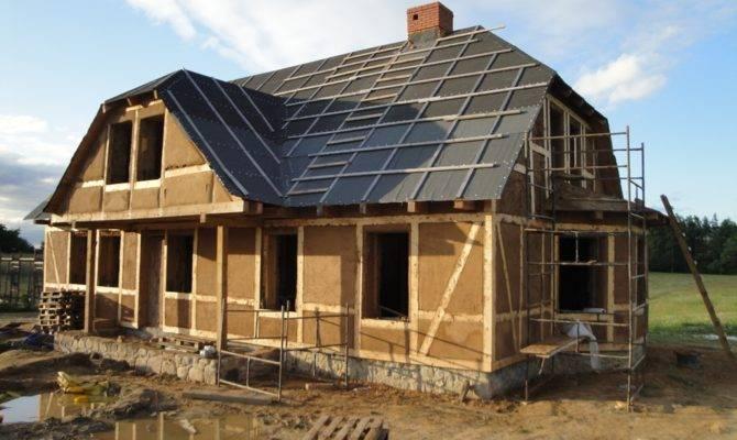 Timber Framed Adobe House Built Traditional Building