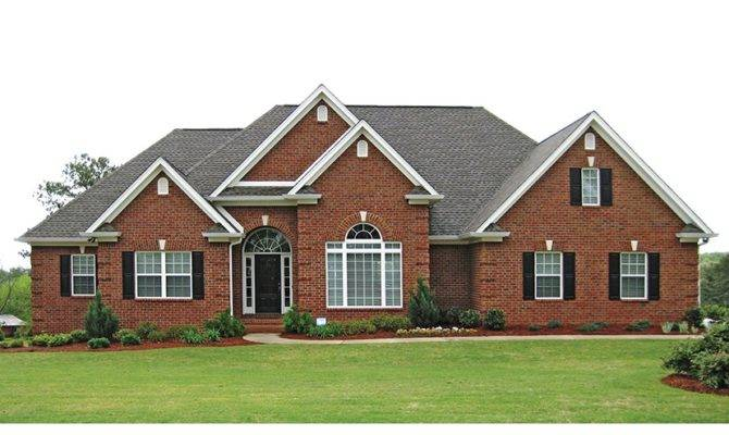 Traditional Brick Ranch Hwbdo New American Builderhouseplans
