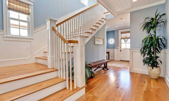 Traditional Cape Cod Home Feature Wood Floors Throughout