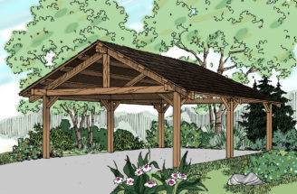 Traditional House Plans Carport Associated Designs