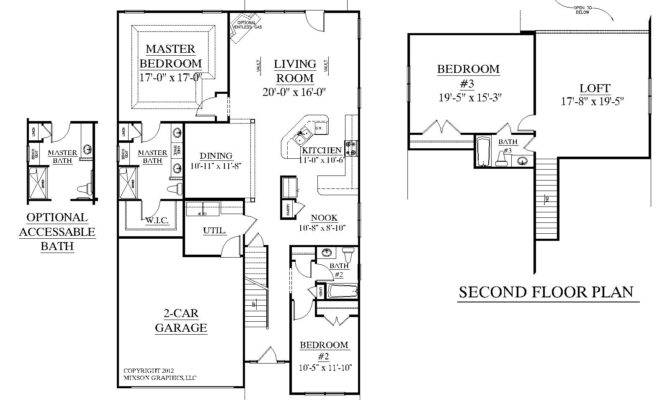 Traditional Story House Plan Bedrooms Baths